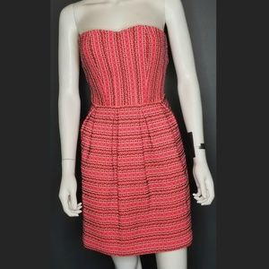 ANTHROPOLOGIE Neon Pink Bandage Style dress S
